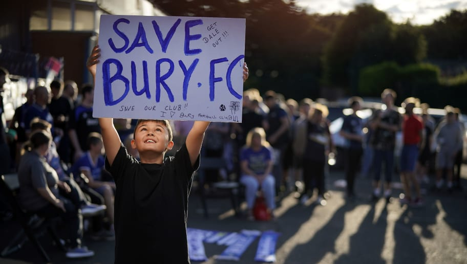 Future Of Bury Football Club In The Balance