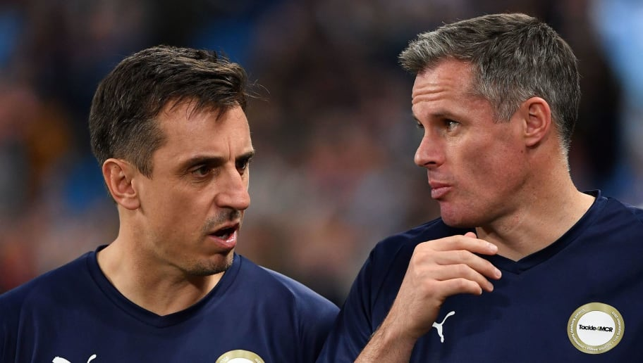 Gary Neville and Jamie Carragher Hilariously Analyse Each Other's Defending in Kompany's Testimonial