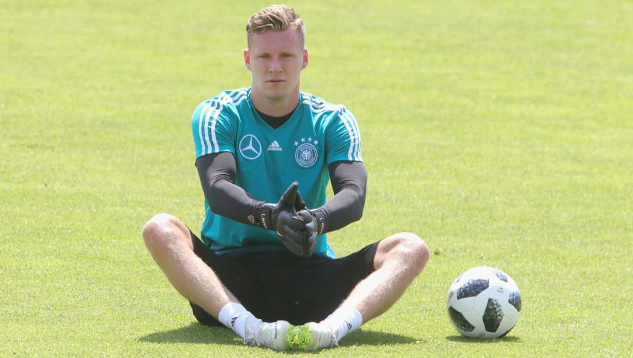 EPPAN, ITALY - JUNE 01:  Bernd Leno looks on during a training session of the German national team at Sportanlage Rungg on day ten of  the Southern Tyrol Training Camp on June 1, 2018 in Eppan, Italy.  (Photo by Alexander Hassenstein/Bongarts/Getty Images)