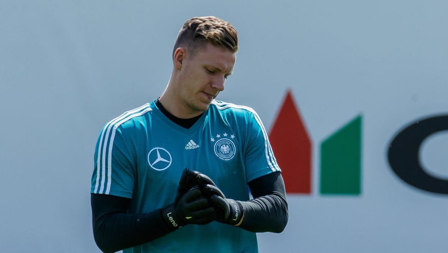 EPPAN, ITALY - MAY 28: Goalkeeper Bernd Leno of Germany looks on during day six of the Southern Tyrol Training Camp on May 28, 2018 in Eppan, Italy. (Photo by TF-Images/Getty Images)