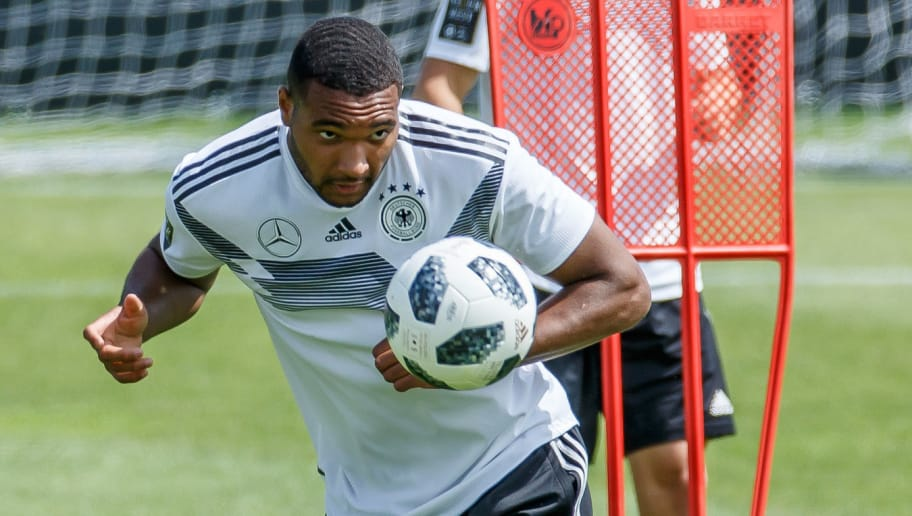EPPAN, ITALY - MAY 28: Jonathan Tah of Germany controls the ball during day six of the Southern Tyrol Training Camp on May 28, 2018 in Eppan, Italy. (Photo by TF-Images/Getty Images)