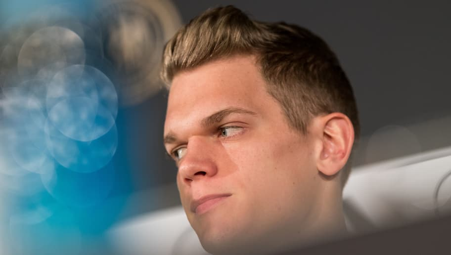 BERLIN, BERLIN - MARCH 26:  Matthias Ginter, player of the German National Team attends a press conference at Mercedes Benz on March 26, 2018 in Berlin, Germany.  (Photo by Boris Streubel/Bongarts/Getty Images)