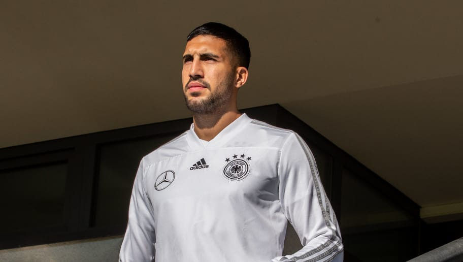 BERLIN, GERMANY - OCTOBER 11: Emre Can of Germany arrives to a training session of the German national team at Stadion auf dem Wurfplatz on October 11, 2018 in Berlin, Germany. (Photo by Boris Streubel/Bongarts/Getty Images)