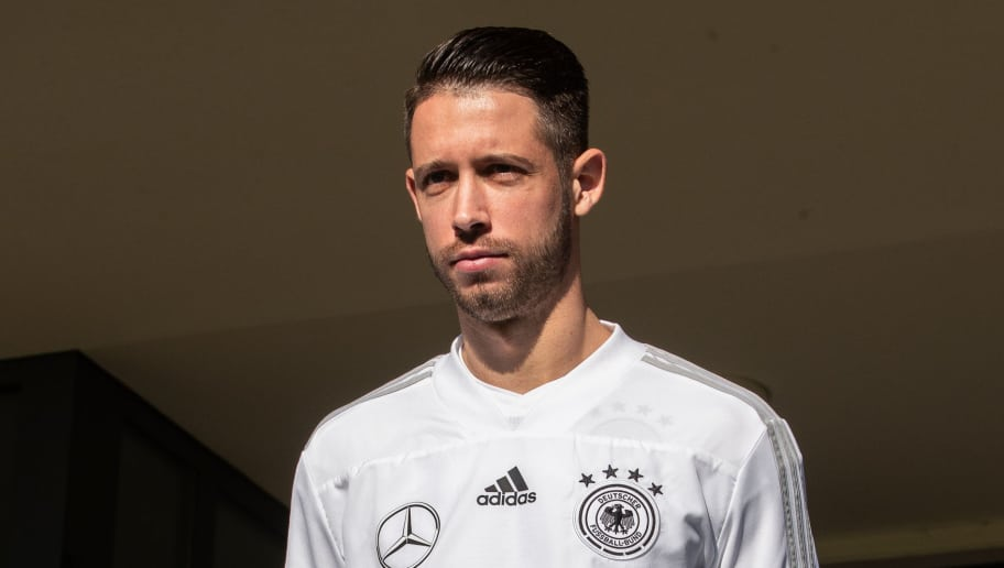 BERLIN, GERMANY - OCTOBER 11: Mark Uth of Germany arrives to a training session of the German national team at Stadion auf dem Wurfplatz on October 11, 2018 in Berlin, Germany. (Photo by Boris Streubel/Bongarts/Getty Images)