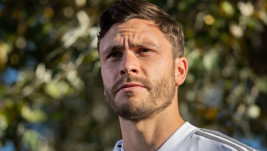 BERLIN, GERMANY - OCTOBER 11: Jonas Hector of Germany looks on prior to a training session of the German national team at Stadion auf dem Wurfplatz on October 11, 2018 in Berlin, Germany. (Photo by Boris Streubel/Bongarts/Getty Images)
