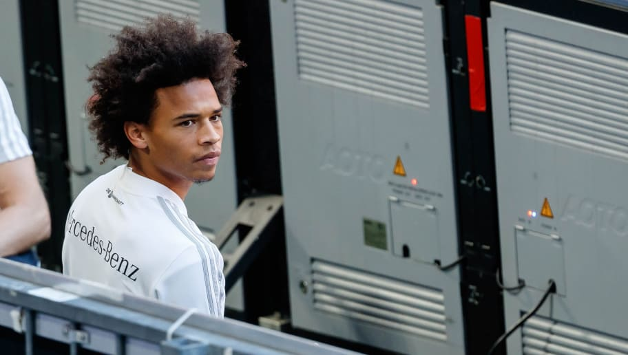 MUNICH, GERMANY - SEPTEMBER 05: Leroy Sane of Germany looks on during a team Germany training session at Bayern Muenchen Campus on September 5, 2018 in Munich, Germany. (Photo by TF-Images/TF-Images via Getty Images)