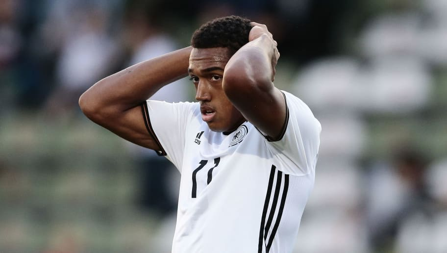 LUEBECK, GERMANY - SEPTEMBER 01:  Anton Donkor of Germany appears frustrated during the international friendly match between U20 Germany and U20 Italy at Stadion Lohmuehle on September 1, 2016 in Luebeck, Germany.  (Photo by Oliver Hardt/Bongarts/Getty Images)