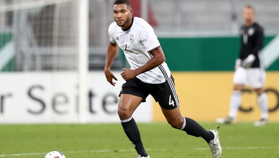 INGOLSTADT, GERMANY - OCTOBER 07:  Jonathan Tah of Germany runs with the ball during the 2017 UEFA European U21 Championships Qualifier between Germany and Russia at Audi Sportpark on October 7, 2016 in Ingolstadt, Germany.  (Photo by Alexander Hassenstein/Bongarts/Getty Images)