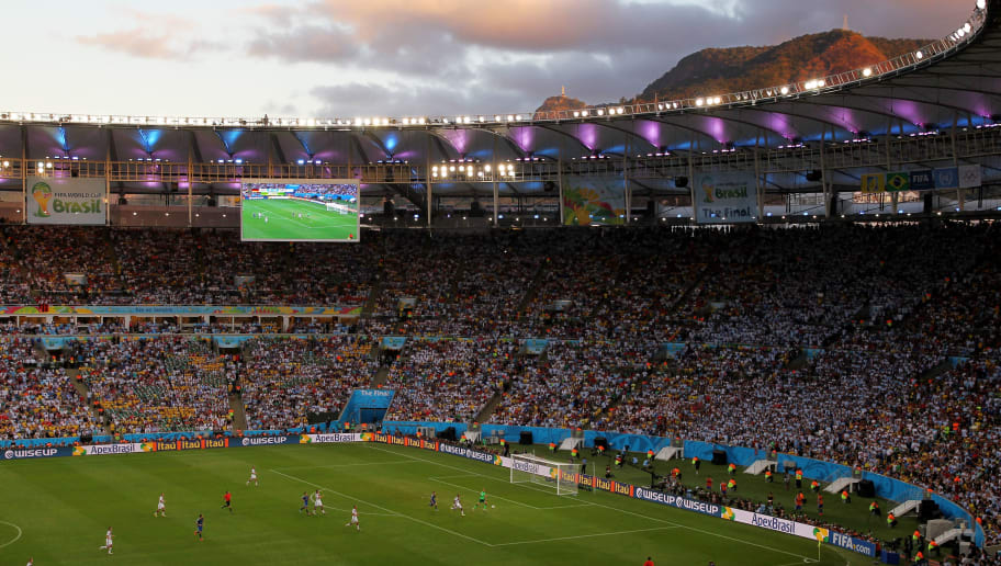 RIO DE JANEIRO, BRAZIL - JULY 13:  A general view of play during the 2014 FIFA World Cup Brazil Final match between Germany and Argentina at Maracana on July 13, 2014 in Rio de Janeiro, Brazil.  (Photo by Jamie Squire/Getty Images)