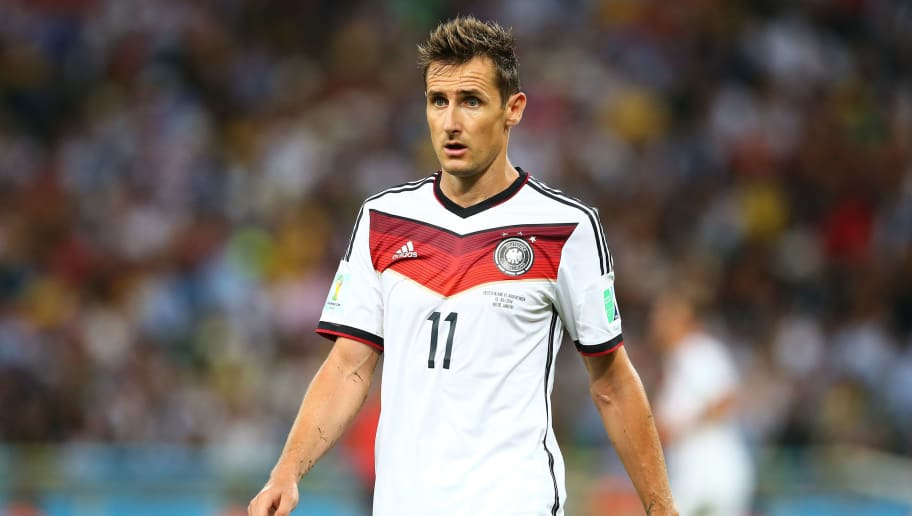 RIO DE JANEIRO, BRAZIL - JULY 13: Miroslav Klose of Germany looks on during the 2014 FIFA World Cup Brazil Final match between Germany and Argentina at Maracana on July 13, 2014 in Rio de Janeiro, Brazil.  (Photo by Martin Rose/Getty Images)
