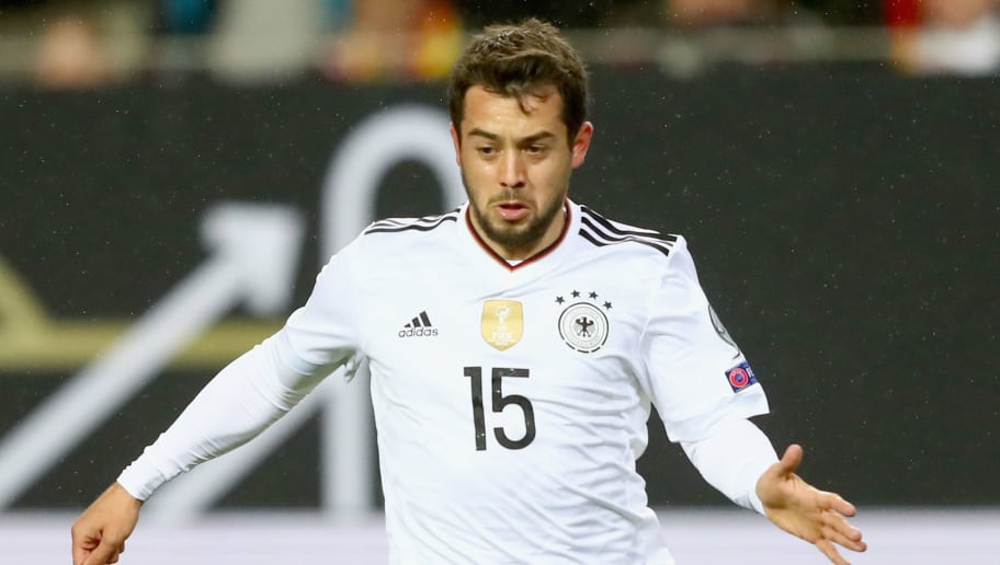 KAISERSLAUTERN, GERMANY - OCTOBER 08:  Amin Younes of Germany runs with the ball during the FIFA 2018 World Cup Qualifier between Germany and Azerbaijan at Fritz-Walter-Stadion on October 8, 2017 in Kaiserslautern, Rhineland-Palatinate.  (Photo by Alexander Hassenstein/Bongarts/Getty Images)