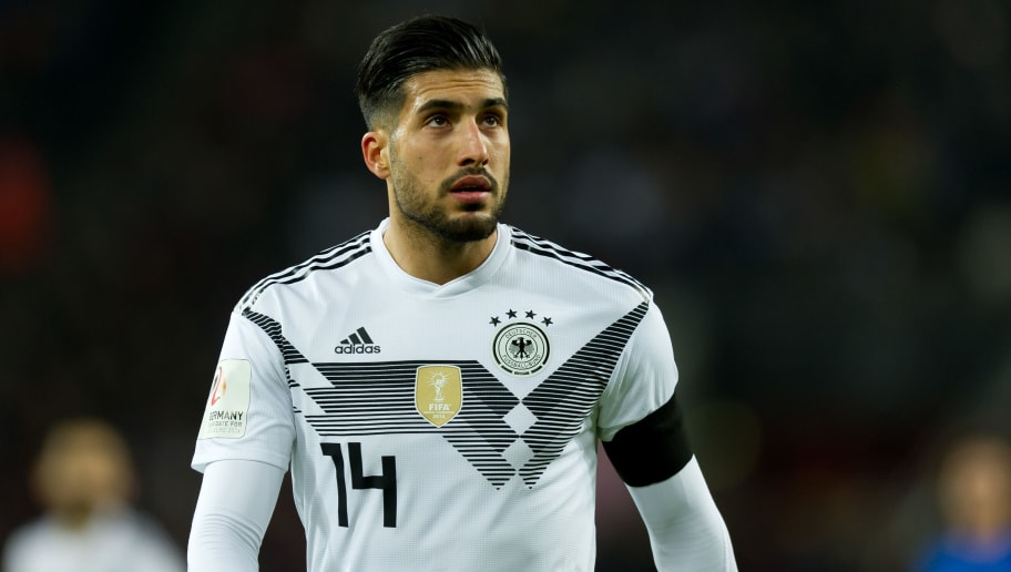 COLOGNE, GERMANY - NOVEMBER 14: Emre Can of Germany looks on during the International friendly match between Germany and France at RheinEnergieStadion on November 14, 2017 in Cologne, Germany. (Photo by TF-Images/TF-Images via Getty Images)