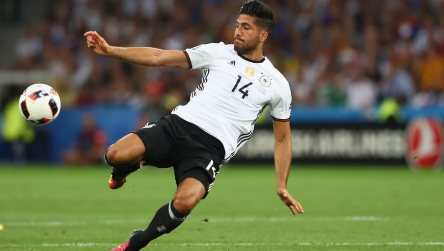 MARSEILLE, FRANCE - JULY 07:  Emre Can of Germany runs with the ball during the UEFA EURO 2016 semi final match between Germany and France at Stade Velodrome on July 7, 2016 in Marseille, France.  (Photo by Alexander Hassenstein/Getty Images)