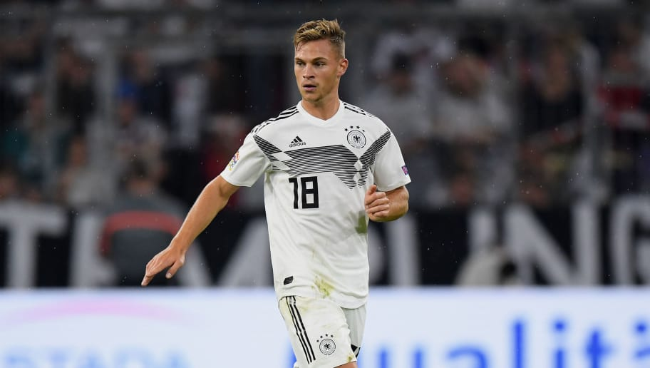 MUNICH, GERMANY - SEPTEMBER 06: Joshua Kimmich of Germany controls the ball during the UEFA Nations League group A match between Germany and France at Allianz Arena on September 06, 2018 in Munich, Germany. (Photo by Matthias Hangst/Bongarts/Getty Images)
