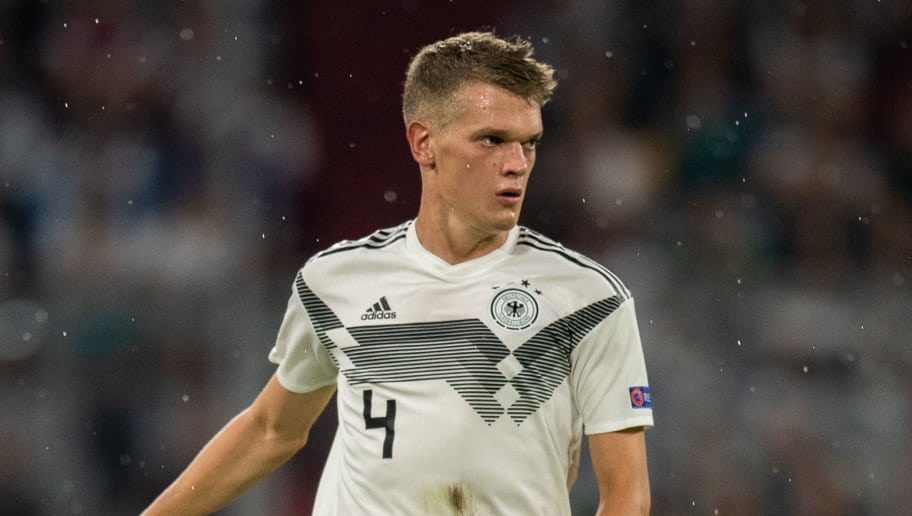 MUNICH, GERMANY - SEPTEMBER 06:   Matthias Ginter of Germany runs with the ball during the UEFA Nations League group A match between Germany and France at Allianz Arena on September 6, 2018 in Munich, Germany. (Photo by Boris Streubel/Getty Images)