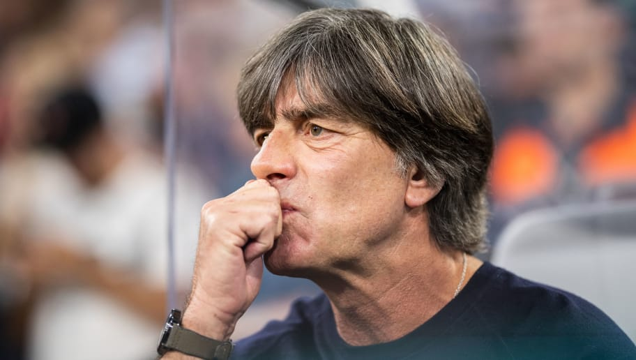MUNICH, GERMANY - SEPTEMBER 06: Head coach Joachim Loew of Germany reacts prior to the UEFA Nations League group A match between Germany and France at Allianz Arena on September 6, 2018 in Munich, Germany. (Photo by Boris Streubel/Getty Images)