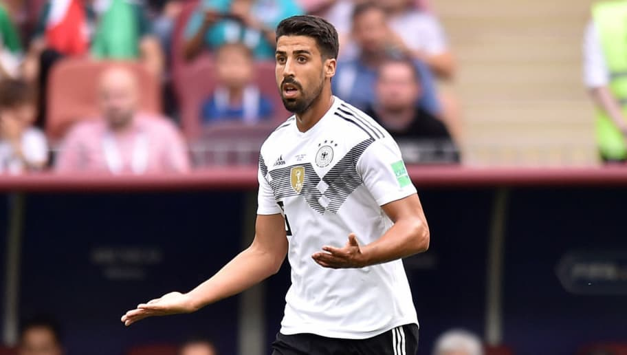 MOSCOW, RUSSIA - JUNE 17: Sami Khedira of Germany during the 2018 FIFA World Cup Russia group F match between Germany and Mexico at Luzhniki Stadium on June 17, 2018 in Moscow, Russia. (Photo by Lukasz Laskowski/PressFocus/MB Media/Getty Images)