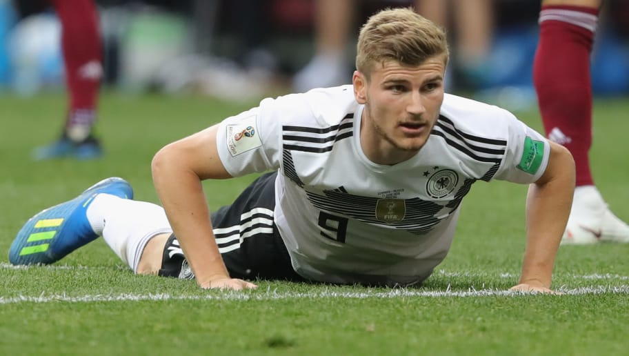 MOSCOW, RUSSIA - JUNE 17:  Timo Werner of Germany looks on during the 2018 FIFA World Cup Russia group F match between Germany and Mexico at Luzhniki Stadium on June 17, 2018 in Moscow, Russia.  (Photo by Alexander Hassenstein/Getty Images)