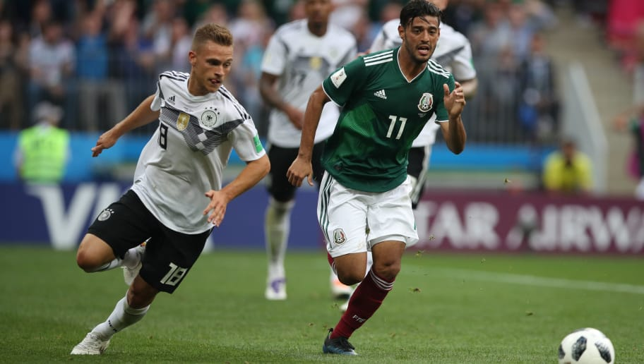 MOSCOW, RUSSIA - JUNE 17: Carlos Vela of Mexico is seen during the 2018 FIFA World Cup Russia group F match between Germany and Mexico at Luzhniki Stadium on June 17, 2018 in Moscow, Russia. (Photo by Ian MacNicol/Getty Images)
