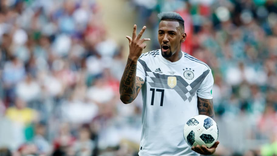 MOSCOW, RUSSIA - JUNE 17: Jerome Boateng of Germany looks on during the 2018 FIFA World Cup Russia group F match between Germany and Mexico at Luzhniki Stadium on June 17, 2018 in Moscow, Russia. (Photo by TF-Images/Getty Images)