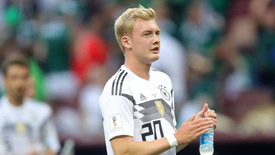 MOSCOW, RUSSIA - JUNE 17:  Julian Brandt of Germany looks on after the 2018 FIFA World Cup Russia group F match between Germany and Mexico at Luzhniki Stadium on June 17, 2018 in Moscow, Russia.  (Photo by Alexander Hassenstein/Getty Images)