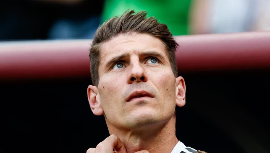 MOSCOW, RUSSIA - JUNE 17: Mario Gomez of Germany looks on during the 2018 FIFA World Cup Russia group F match between Germany and Mexico at Luzhniki Stadium on June 17, 2018 in Moscow, Russia. (Photo by TF-Images/Getty Images)