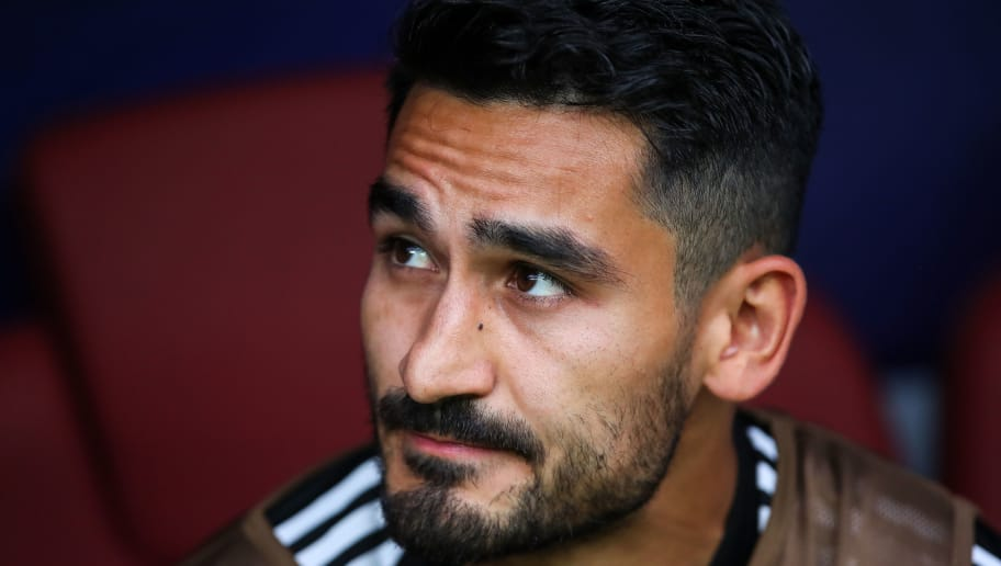 MOSCOW, RUSSIA - JUNE 17: Ilkay Gundogan of Germany looks on during the 2018 FIFA World Cup Russia group F match between Germany and Mexico at Luzhniki Stadium on June 17, 2018 in Moscow, Russia. (Photo by Robbie Jay Barratt - AMA/Getty Images)