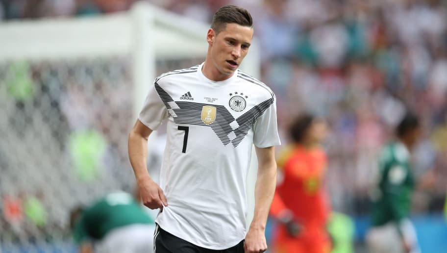 MOSCOW, RUSSIA - JUNE 17: Julian Draxler of Germany is seen during the 2018 FIFA World Cup Russia group F match between Germany and Mexico at Luzhniki Stadium on June 17, 2018 in Moscow, Russia. (Photo by Ian MacNicol/Getty Images)