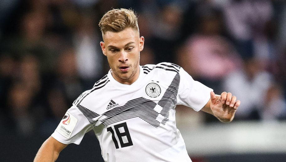 SINSHEIM, GERMANY - SEPTEMBER 09: Joshua Kimmich of Germany controls the ball during the International Friendly match between Germany and Peru at Rhein-Neckar-Arena on September 9, 2018 in Sinsheim, Germany. (Photo by Maja Hitij/Bongarts/Getty Images)