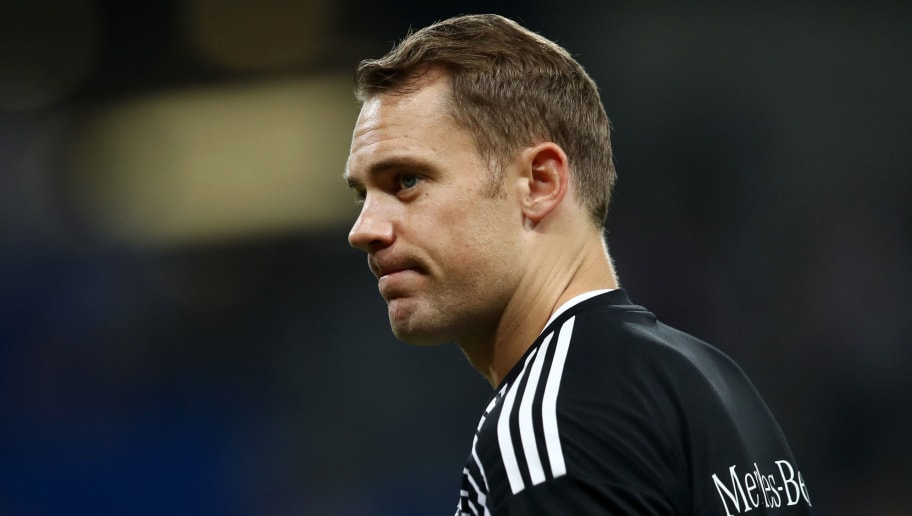SINSHEIM, GERMANY - SEPTEMBER 09:  Manuel Neuer of Germany looks on when warming up prior to the International Friendly match between Germany and Peru at Rhein-Neckar-Arena on September 9, 2018 in Sinsheim, Germany.  (Photo by Maja Hitij/Bongarts/Getty Images)