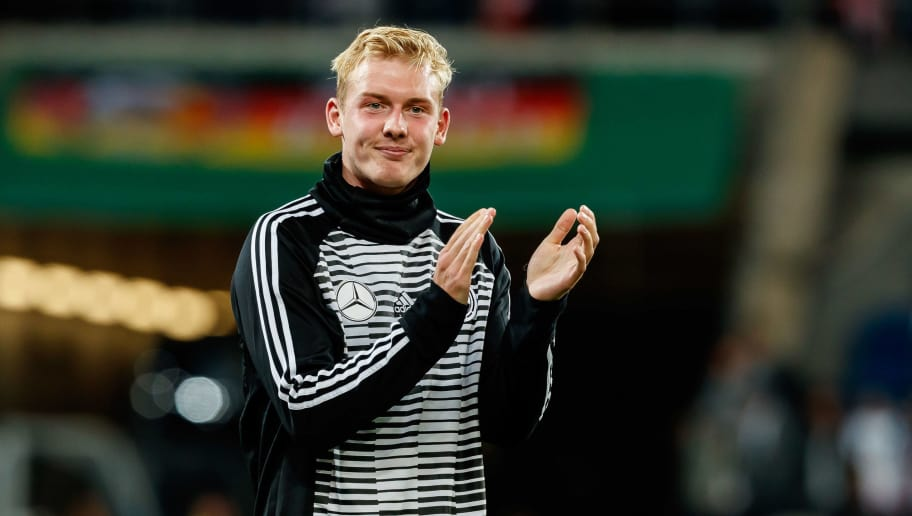 SINSHEIM, GERMANY - SEPTEMBER 09: Julian Brandt of Germany gestures gestures during the International Friendly match between Germany and Peru on September 9, 2018 in Sinsheim, Germany. (Photo by TF-Images/Getty Images)