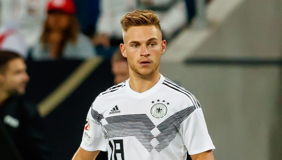 SINSHEIM, GERMANY - SEPTEMBER 09: Joshua Kimmich of Germany controls the ball during the International Friendly match between Germany and Peru on September 9, 2018 in Sinsheim, Germany. (Photo by TF-Images/Getty Images)