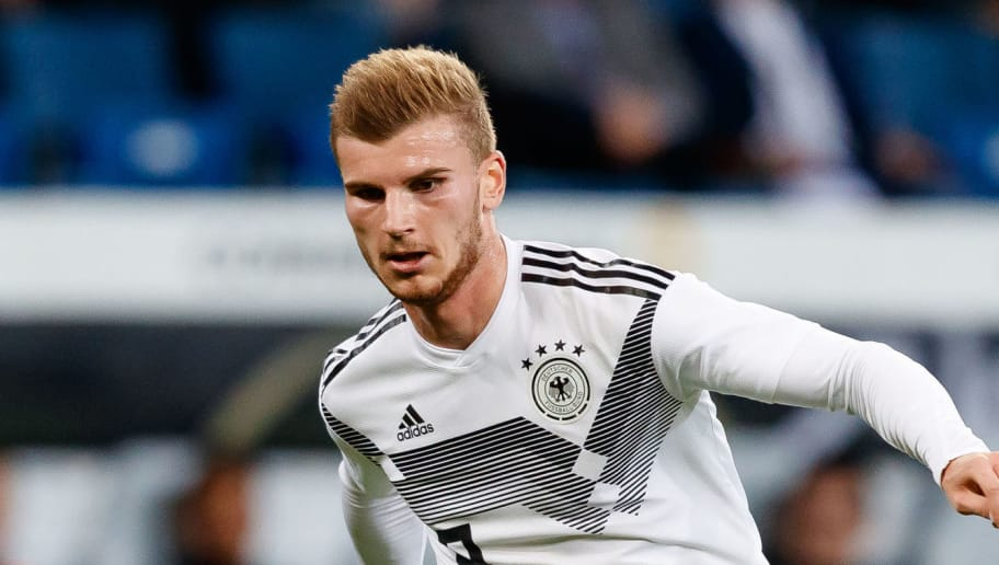 SINSHEIM, GERMANY - SEPTEMBER 09: Timo Werner of Germany controls the ball during the International Friendly match between Germany and Peru on September 9, 2018 in Sinsheim, Germany. (Photo by TF-Images/Getty Images)
