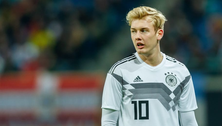 LEIPZIG, GERMANY - NOVEMBER 15: Julian Brandt of Germany looks on during the International Friendly match between Germany and Russia at Red Bull Arena on November 15, 2018 in Leipzig, Germany. .(Photo by TF-Images/Getty Images)