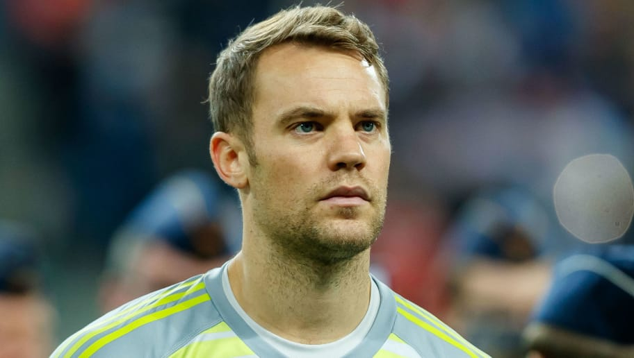 LEIPZIG, GERMANY - NOVEMBER 15: Goalkeeper Manuel Neuer of Germany looks on during the International Friendly match between Germany and Russia at Red Bull Arena on November 15, 2018 in Leipzig, Germany. .(Photo by TF-Images/Getty Images)