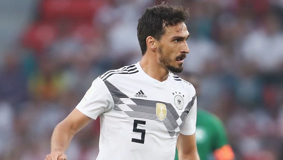 LEVERKUSEN, GERMANY - JUNE 08:  Mats Hummels of Germany controls the ball during the international friendly match between Germany and Saudi Arabia ahead of the FIFA World Cup Russia 2018 at BayArena on June 8, 2018 in Leverkusen, Germany.  (Photo by Alex Grimm/Bongarts/Getty Images)