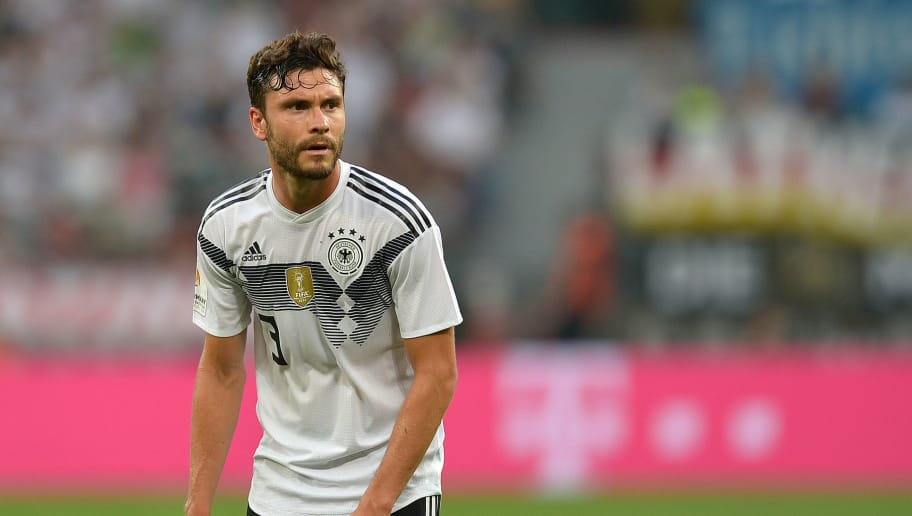 LEVERKUSEN, GERMANY - JUNE 08: Jonas Hector of Germany looks on during the international friendly match between Germany and Saudi Arabia at BayArena on June 8, 2018 in Leverkusen, Germany. (Photo by TF-Images/Getty Images)