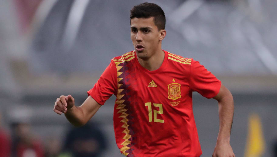 DUSSELDORF, GERMANY - MARCH 23: Rodri of Spain  during the  International Friendly match between Germany  v Spain  at the Esprit Arena on March 23, 2018 in Dusseldorf Germany (Photo by Cees van Hoogdalem/Soccrates/Getty Images)
