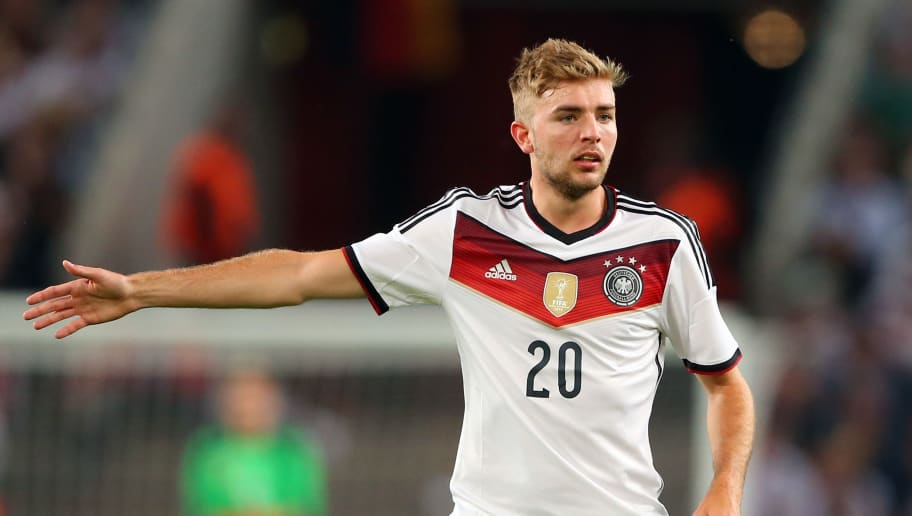 COLOGNE, GERMANY - JUNE 10:  Christoph Kramer  of Germany looks on during the international friendly match between Germany and USA at RheinEnergieStadion on June 10, 2015 in Cologne, Germany.  (Photo by Alexander Hassenstein/Bongarts/Getty Images)