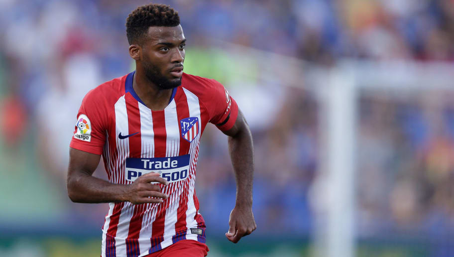 GETAFTE, SPAIN - SEPTEMBER 22: Thomas Lemar of Atletico Madrid during the La Liga Santander  match between Getafe v Atletico Madrid at the Coliseum Alfonso Perez on September 22, 2018 in Getafte Spain (Photo by Jeroen Meuwsen/Soccrates/Getty Images)