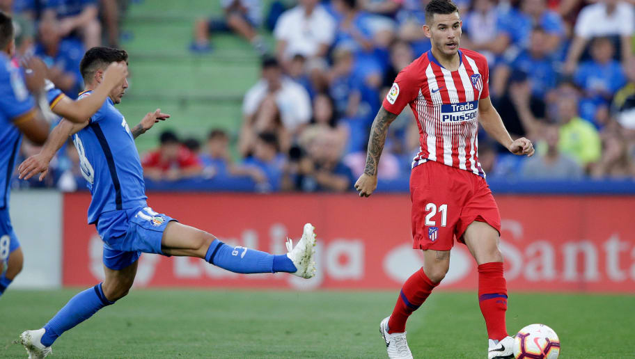GETAFTE, SPAIN - SEPTEMBER 22: Lucas Hernandez of Atletico Madrid during the La Liga Santander  match between Getafe v Atletico Madrid at the Coliseum Alfonso Perez on September 22, 2018 in Getafte Spain (Photo by Jeroen Meuwsen/Soccrates/Getty Images)