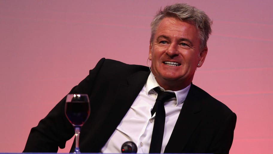 BOURNEMOUTH, ENGLAND - MARCH 19:  Charlie Nicholas answers questions during the Gillette Soccer Saturday Live with Jeff Stelling on March 19, 2012 at the Bournemouth International Centre in Bournemouth, England.  (Photo by Bryn Lennon/Getty Images)