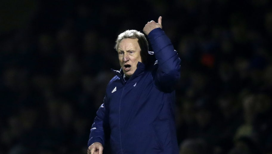 GILLINGHAM, UNITED KINGDOM - JANUARY 05:  Neil Warnock, Manager of Cardiff City reacts during the FA Cup Third Round match between Gillingham and Cardiff City at Priestfield Stadium on January 5, 2019 in Gillingham, United Kingdom.  (Photo by Henry Browne/Getty Images)