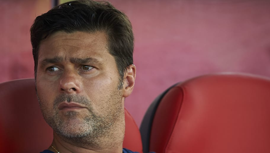 GIRONA, SPAIN - AUGUST 04:  Tottenham Hotspur manager, Mauricio Pochettino looks on prior the pre-season friendly match between Girona and Tottenham Hotspur at Municipal de Montilivi Stadium on August 4, 2018 in Girona, Spain.  (Photo by Quality Sport Images/Getty Images)