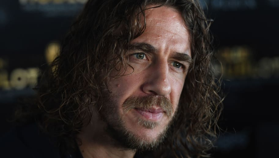 MONACO - OCTOBER 10:  Carles Puyol attends the Golden Foot 2016 Award Ceremony press conference at Fairmont Hotel on October 10, 2016 in Monaco, Monaco.  (Photo by Valerio Pennicino/Getty Images)