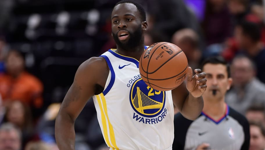 SALT LAKE CITY, UT - DECEMBER 19: Draymond Green #23 of the Golden State Warriors controls the ball against Utah Jazz in a NBA game at Vivint Smart Home Arena on December 19, 2018 in Salt Lake City, Utah. NOTE TO USER: User expressly acknowledges and agrees that, by downloading and or using this photograph, User is consenting to the terms and conditions of the Getty Images License Agreement. (Photo by Gene Sweeney Jr./Getty Images)