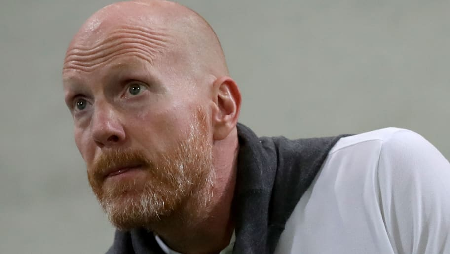 FUERTH, GERMANY - AUGUST 20:  Matthias Sammer  looks on  during the DFB Cup first round match between SpVgg Greuther Fuerth and BVB Borussia Dortmund at Sportpark Ronhof Thomas Sommer on August 20, 2018 in Fuerth, Germany.  (Photo by Alexander Hassenstein/Bongarts/Getty Images)