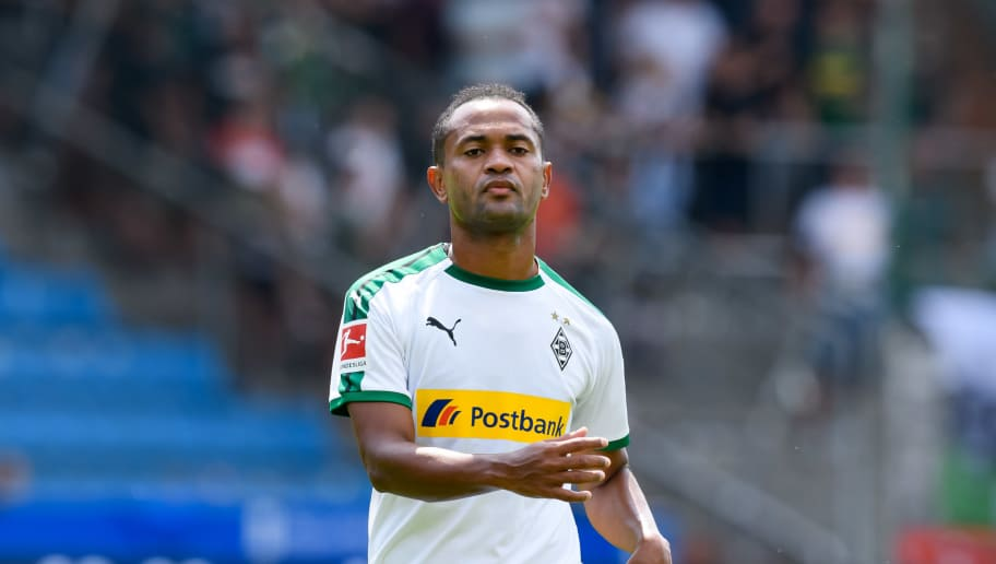BOCHUM, GERMANY - JULY 22: Raffael of Borussia Moenchengladbach looks on during the H-Hotels Cup match between Borussia Moenchengladbach and Real Betis Sevilla  at Vonovia Ruhrstadion on July 22, 2018 in Bochum, Germany. (Photo by TF-Images/Getty Images)