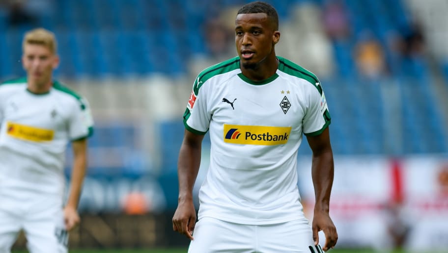 BOCHUM, GERMANY - JULY 22: Alassane Plea of Borussia Moenchengladbach looks on during the H-Hotels Cup match  between VfL Bochum and Borussia Moenchengladbach at Vonovia Ruhrstadion on July 22, 2018 in Bochum, Germany. (Photo by TF-Images/Getty Images)
