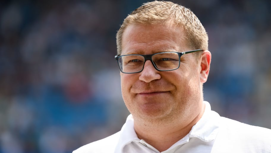 BOCHUM, GERMANY - JULY 22: Sporting director Max Eberl of Borussia Moenchengladbach looks on during the H-Hotels Cup match between Borussia Moenchengladbach and Real Betis Sevilla  at Vonovia Ruhrstadion on July 22, 2018 in Bochum, Germany. (Photo by TF-Images/Getty Images)